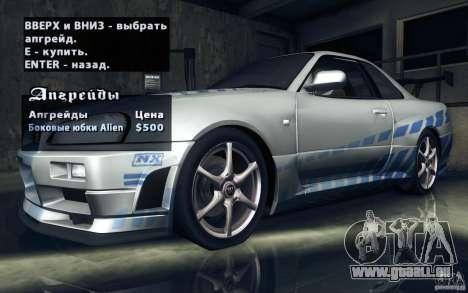 Nissan Skyline GTR R34 VSpecII pour GTA San Andreas