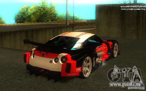 Nissan Skyline R35 GTR für GTA San Andreas Innen