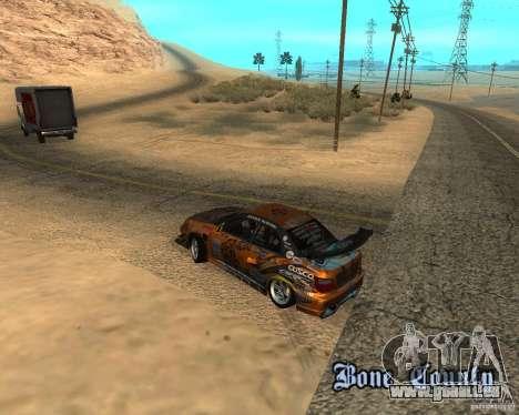 Subaru Impreza WRX Team Orange DRIFT SA-MP pour GTA San Andreas vue arrière