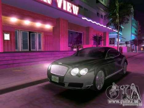 Bentley Continental GT für GTA Vice City Rückansicht