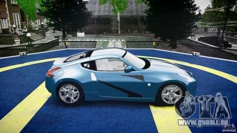 Nissan 370Z Coupe 2010 für GTA 4 Unteransicht