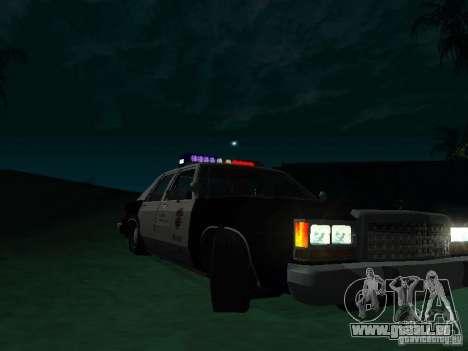 Ford Crown Victoria LTD 1992 SFPD pour GTA San Andreas vue arrière