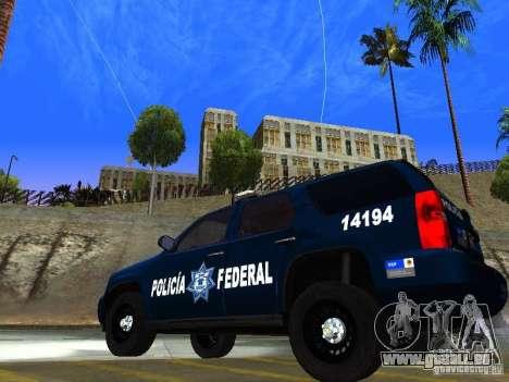 Chevrolet Tahoe 2008 Police Federal pour GTA San Andreas laissé vue