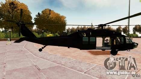 MH-60K Black Hawk pour GTA 4 est une gauche
