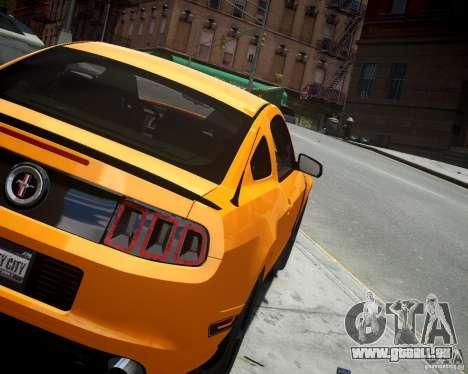 Ford Mustang Boss pour GTA 4 Vue arrière de la gauche