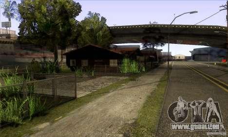 Grove Street Retextured pour GTA San Andreas troisième écran