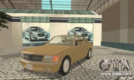Mercedes-Benz W126 560SEC pour GTA San Andreas laissé vue