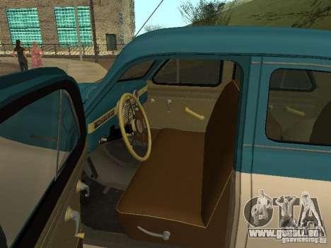 Victoire de M20V de gaz pour GTA San Andreas vue de droite