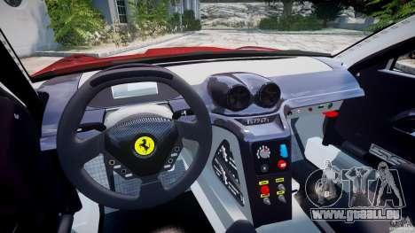 Ferrari 599 XX pour GTA 4 Vue arrière