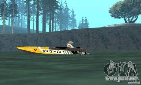 Cesa Offshore für GTA San Andreas zurück linke Ansicht