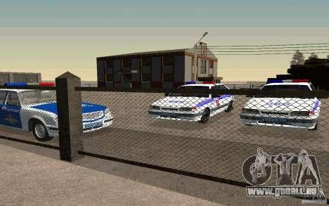 Vaz 2114 PSB Police pour GTA San Andreas vue de droite