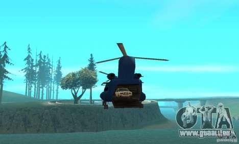 CH-47 Chinook ver 1.2 für GTA San Andreas Innenansicht