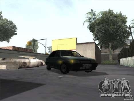 Drain de VAZ 21099 pour GTA San Andreas sur la vue arrière gauche