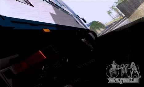 Volvo F10 pour GTA San Andreas vue arrière