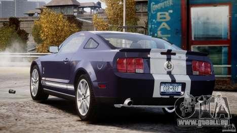 Shelby GT500KR 2008 pour GTA 4 est un côté
