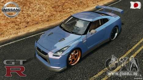 Nissan GT-R 35 rEACT v1.0 pour GTA 4 est une vue de dessous