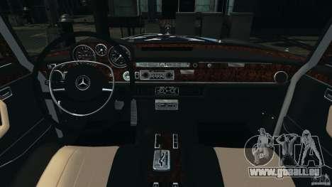 Mercedes-Benz 300Sel 1971 v1.0 pour GTA 4 Vue arrière