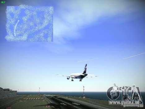 Aeroflot Russian Airlines Airbus A320 pour GTA San Andreas vue de côté