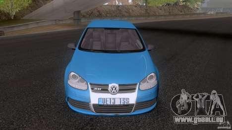 VW Golf 5 R32 2006 StanceWorks pour GTA San Andreas sur la vue arrière gauche