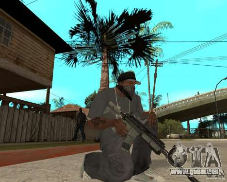 M4A1 avec vue kolliminotarnym. pour GTA San Andreas deuxième écran