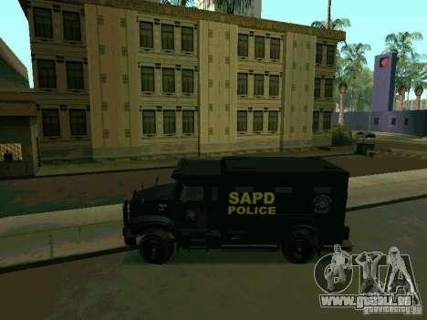 Stokade SAPD SWAT Van pour GTA San Andreas laissé vue