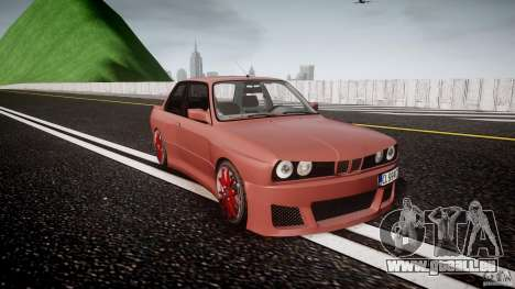 BMW E30 v8 pour GTA 4 Vue arrière