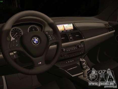 BMW X5M 2011 pour GTA San Andreas vue arrière