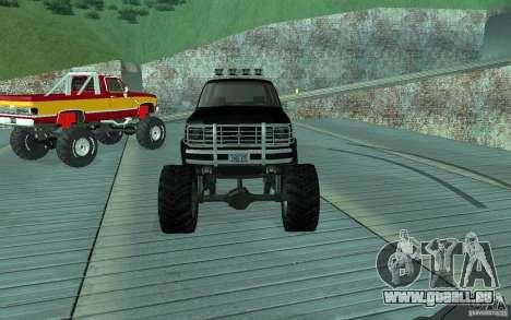 Ford Bronco Monster Truck 1985 pour GTA San Andreas vue arrière