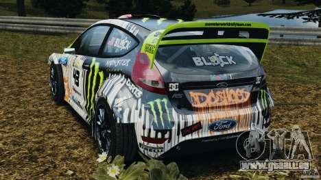 Ford Fiesta RS WRC Gymkhana v1.0 für GTA 4 hinten links Ansicht