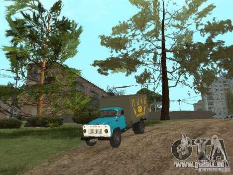 GAZ 52 pour GTA San Andreas vue intérieure
