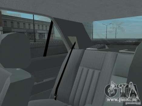 Mercedes-Benz 250D pour GTA San Andreas vue de dessous
