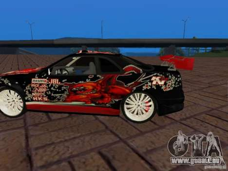 Nissan Skyline GT-R R34 Tunable pour GTA San Andreas vue arrière