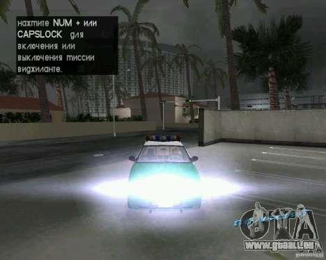 Ford Crown Victoria 2003 Police pour GTA Vice City vue latérale