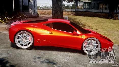 Ferrari 458 Italia Dub Edition für GTA 4 linke Ansicht