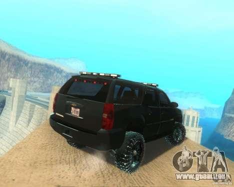 Chevrolet Suburban Crankcase Transformers 3 für GTA San Andreas zurück linke Ansicht