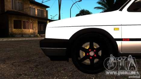 VW Golf 2 für GTA San Andreas Unteransicht