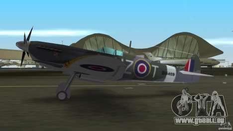 Spitfire Mk IX pour une vue GTA Vice City de la droite