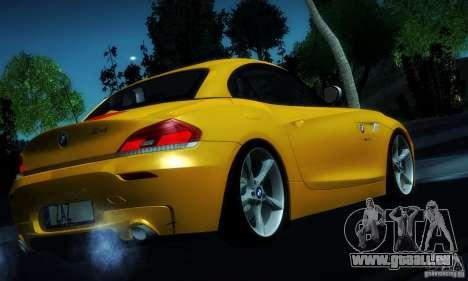 BMW Z4 Stock 2010 für GTA San Andreas obere Ansicht