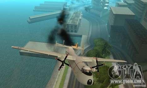 C-2 Greyhound pour GTA San Andreas vue de dessus