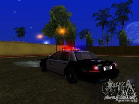 Ford Crown Victoria San Andreas State Patrol pour GTA San Andreas vue de dessus