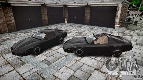KITT Knight Rider pour GTA 4 est une vue de dessous