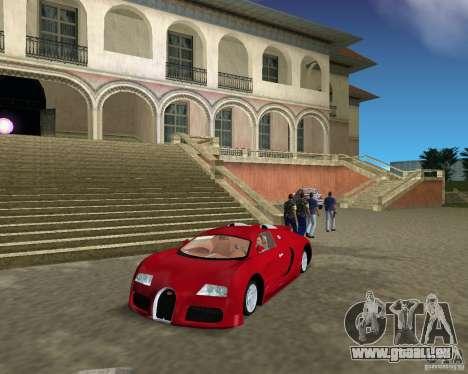 Bugatti Veyron pour une vue GTA Vice City de la gauche