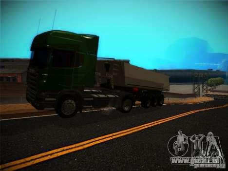 Scania R580 für GTA San Andreas Rückansicht