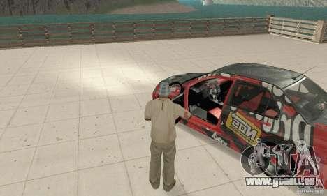 Mitsubishi Lancer Evolution 8 für GTA San Andreas Rückansicht