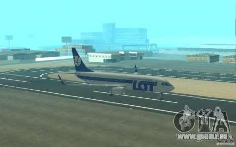 Boeing 737 LOT Polish Airlines pour GTA San Andreas vue de dessus