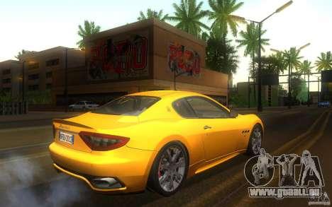 Maserati Gran Turismo S 2011 für GTA San Andreas rechten Ansicht