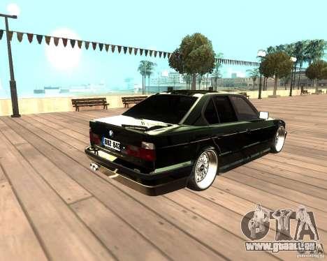 BMW M5 E34 Street pour GTA San Andreas laissé vue
