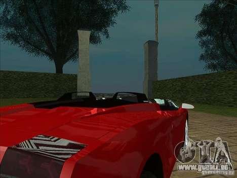 Lamborghini Concept S für GTA San Andreas Rückansicht