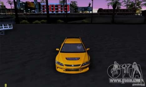 Mitsubishi Lancer Evolution IX 2006 pour GTA San Andreas laissé vue