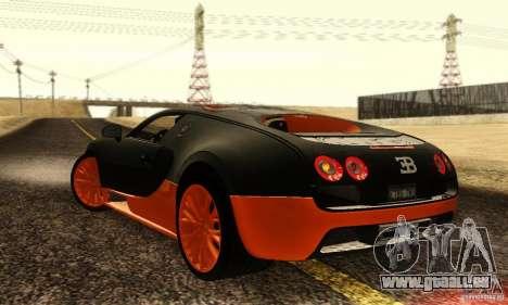 Bugatti Veyron SuperSport für GTA San Andreas rechten Ansicht